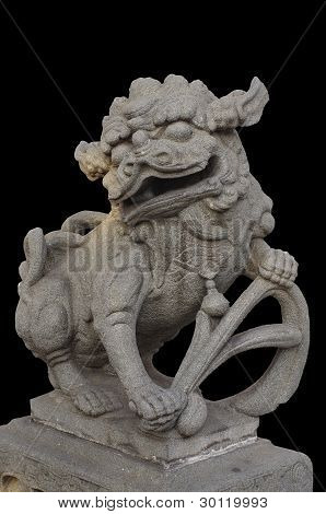 Legendary Male Lion Guard Statue