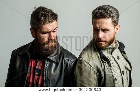 Handsome Stylish And Cool. Masculine And Brutal Friends. Bully Team. Masculinity And Brutality. Feel
