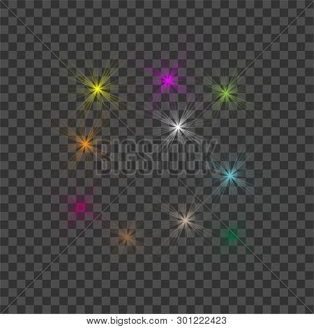 White Beautiful Light Explodes With A Transparent Explosion. Vector, Bright Illustration For Perfect