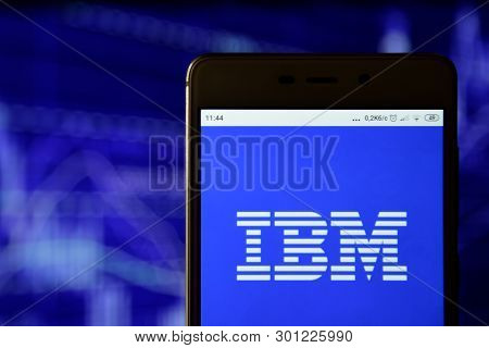Ibm Logo Is Seen On An Smartphone