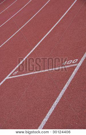 Closeup of racetrack