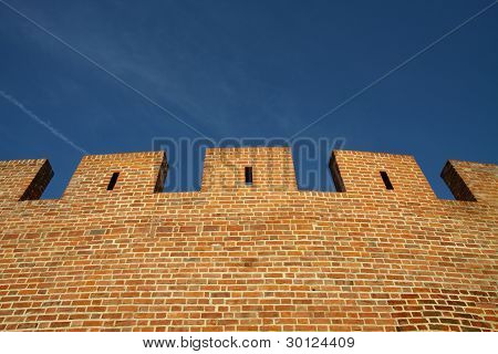 Old wall under sky