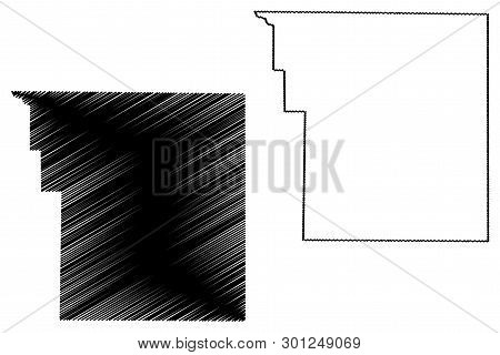 Brooks County, Texas (counties In Texas, United States Of America,usa, U.s., Us) Map Vector Illustra
