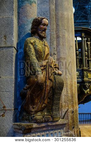 Santiago De Compostela , Spain - May 12, 2019: Santiago De Compostela, Spain.