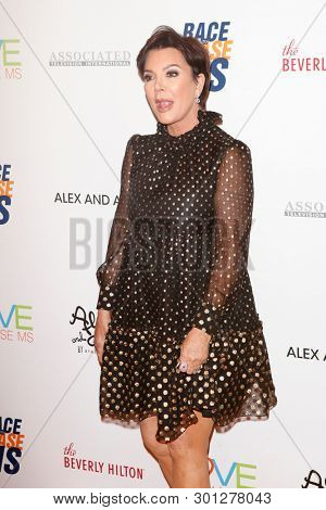 LOS ANGELES - MAY 10:  Kris Jenner at the Race to Erase MS Gala at the Beverly Hilton Hotel on May 10, 2019 in Beverly Hills, CA