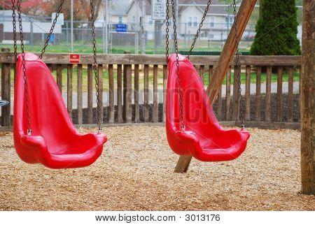 Red Swing Set