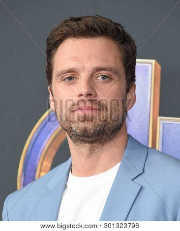 LOS ANGELES - APR 22:  Sebastian Stan arrives for the