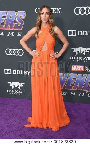 LOS ANGELES - APR 22:  Chloe Bennet arrives for the