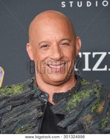 LOS ANGELES - APR 22:  Vin Diesel arrives for the