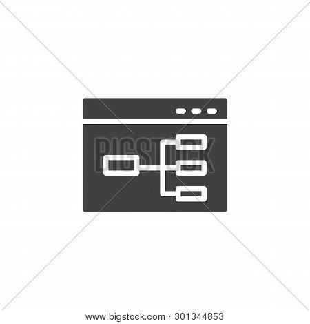 Website Flowchart Vector Icon. Wireframe Filled Flat Sign For Mobile Concept And Web Design. Sitemap