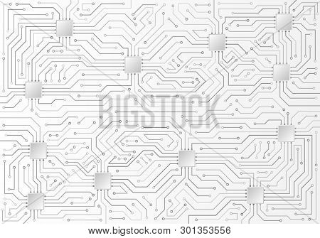 High-tech Technology Background Texture. Circuit Board Vector Illustration. Structure Futuristic Bac
