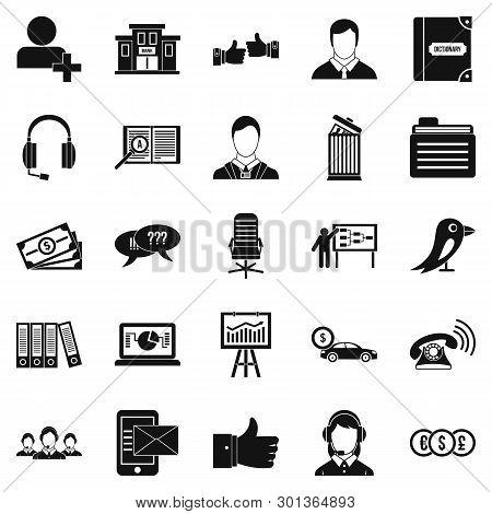 Deliberation Icons Set. Simple Set Of 25 Deliberation Icons For Web Isolated On White Background