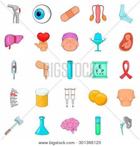 Disorganization Icons Set. Cartoon Set Of 25 Disorganization Icons For Web Isolated On White Backgro