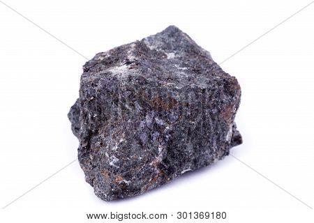 Macro Mineral Stone Apophyllite On A White Background