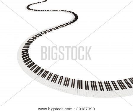 Keyboard shape of way.