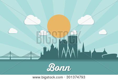 Bonn Skyline - Germany - Vector Illustration - Vector