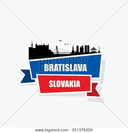 Bratislava Ribbon Banner - Vector Illustration - Vector