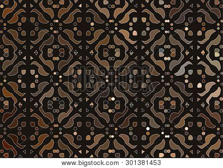 The Vector Abstract Cinnamon Stylized Floral Background