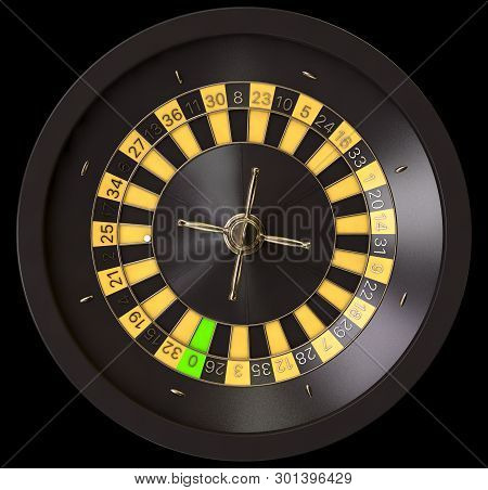Roulette Wheel Black And Yellow