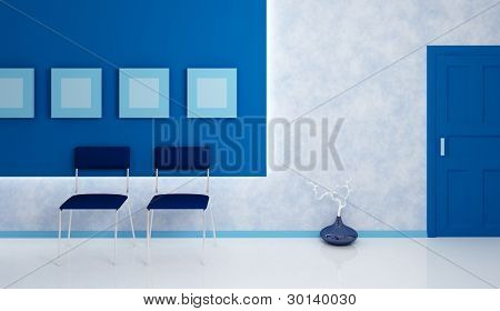 Office corridor composition.