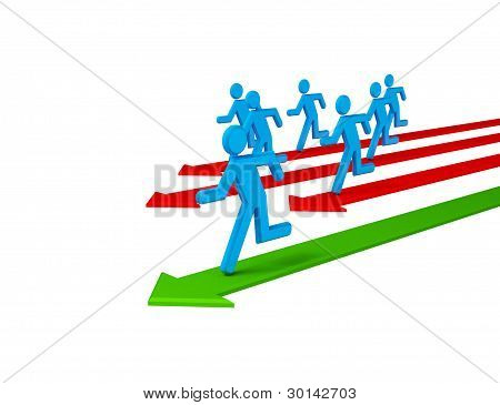 Running 3d small people.