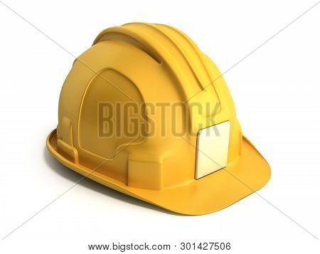 Hard Hat Background Construction Tools 3d Render On White