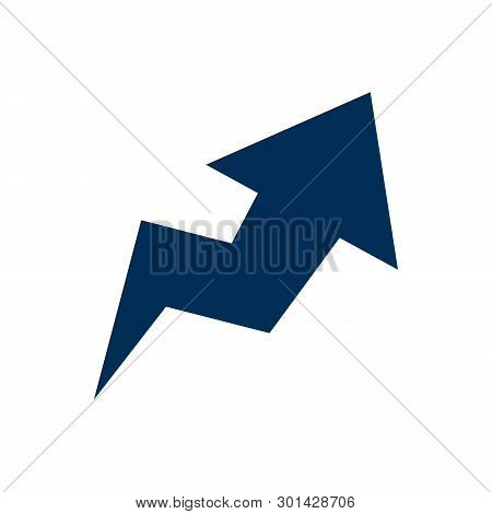 Isolated Trend Icon Symbol On Clean Background. Vector Arrow Element In Trendy Style.
