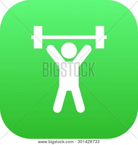 Isolated Fitness Icon Symbol On Clean Background. Vector Weightlifting Element In Trendy Style.