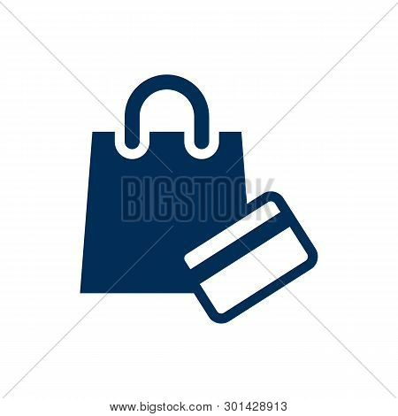 Isolated Shopping Icon Symbol On Clean Background.  Payment  Element In Trendy Style.