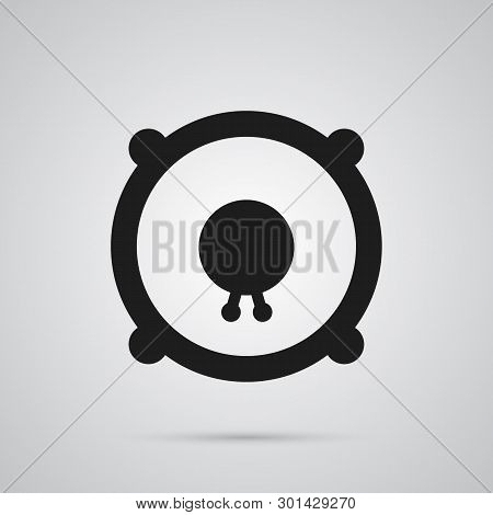 Isolated Speaker Icon Symbol On Clean Background.  Loudspeakers  Element In Trendy Style.