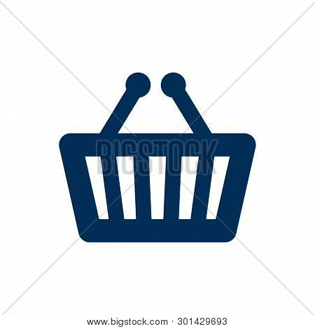 Isolated Basket Icon Symbol On Clean Background. Vector Bag Element In Trendy Style.