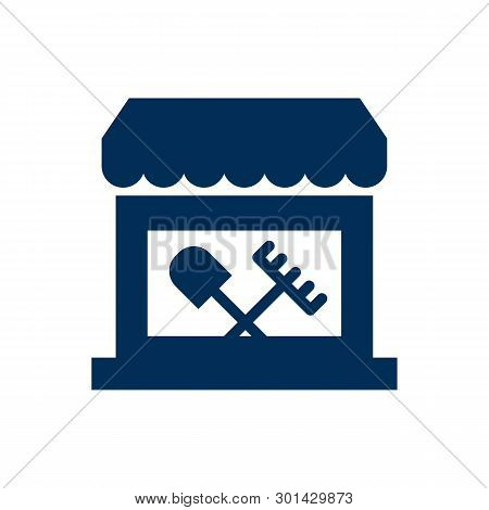 Isolated Tool Shop Icon Symbol On Clean Background. Vector Store Element In Trendy Style.