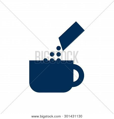 Isolated Instant Icon Symbol On Clean Background.  Package Latte Element In Trendy Style.