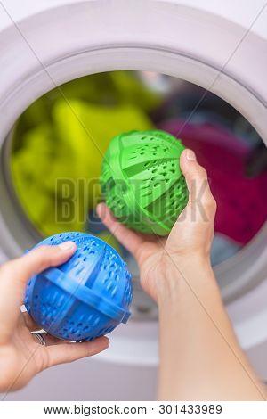 Laundry Eco Washing Thermoplastic Spheres. Eco Washing