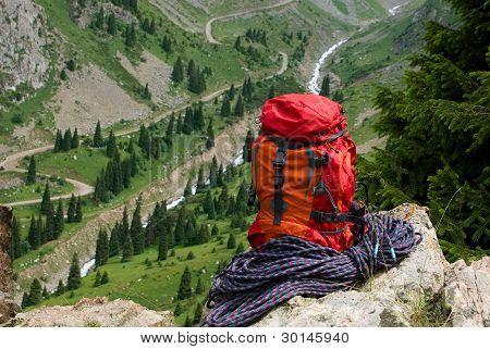 high in mountain