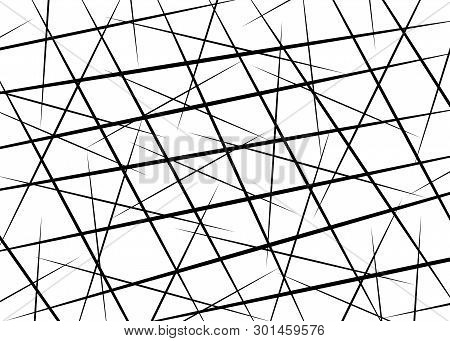 Random Chaotic Lines, Scattered Lines, Random Chaotic Lines Asymmetrical Texture Vector Abstract Art