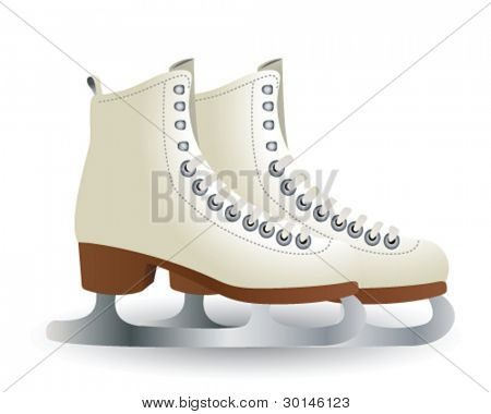 figure white skates isolated on white