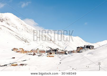 Alpine Ski Resort Village