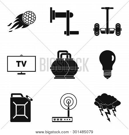 Vigor Icons Set. Simple Set Of 9 Vigor Icons For Web Isolated On White Background