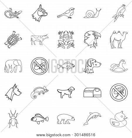 Darling Icons Set. Outline Set Of 25 Darling Icons For Web Isolated On White Background