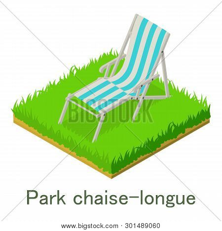 Park Chaise-longue Icon. Isometric Illustration Of Park Chaise-longue Icon For Web.