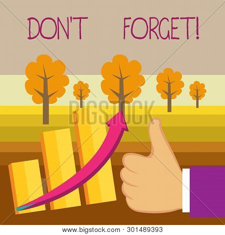 Conceptual Hand Writing Showing Don T Forget. Business Photo Text Used To Remind Someone About Impor