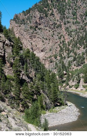 Gunnison River enters the Black Canyon