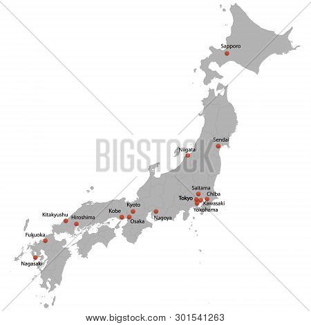 Detailed Map Of The Japan With Cities