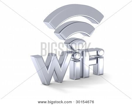 Silver Wifi Sign