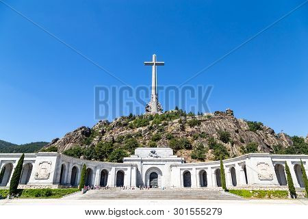 Valley Of The Fallen, Valle De Los Caidos , The Burying Place Of The Dictator Franco On The Sierra T