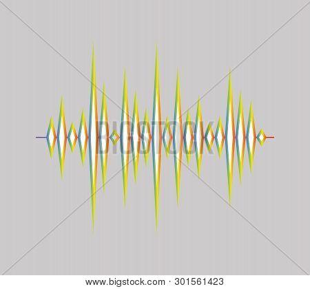 Volume Player Background. Pulse Music Logo. Sound Wave Illustration