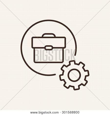 Business Process Line Icon. Development, Improvement, Settings. Business Concept. Vector Illustratio