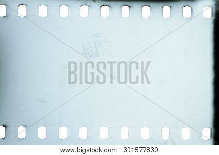 Blank Grained Bw Film Strip Texture Background
