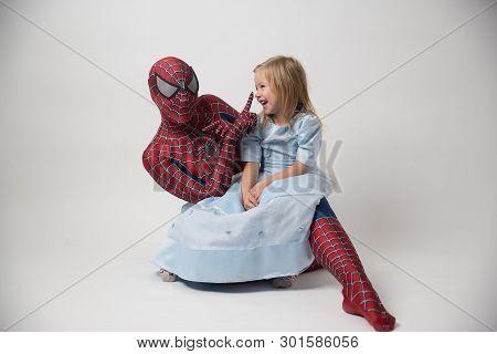 Israel, Tel Aviv 30. 4. 2019: Super Hero Spiderman In Shop. Spider-man Is A Fictional Superhero